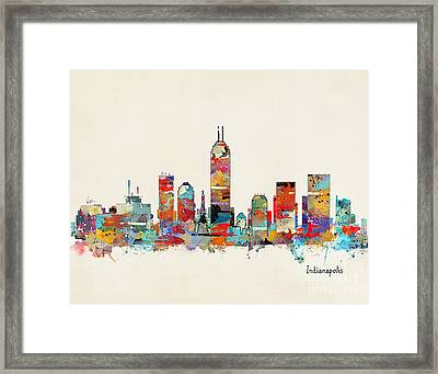 Indianapolis Indiana Skyline Framed Print by Bri B