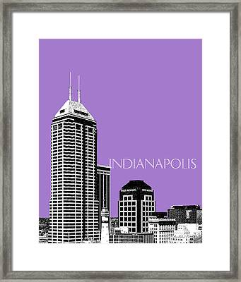 Indianapolis Indiana Skyline - Violet Framed Print by DB Artist