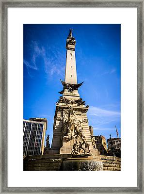 Indianapolis Indiana Soldiers And Sailors Monument Picture Framed Print by Paul Velgos