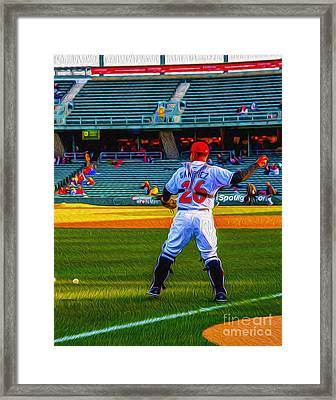 Indianapolis Indians Catcher Framed Print by David Haskett