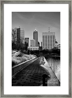 Indianapolis Skyline 21 Framed Print by David Haskett