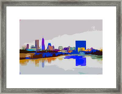 Indianapolis Indiana Winter Paint Framed Print by David Haskett