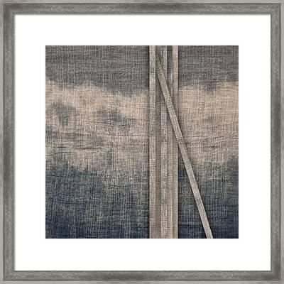 Indigo Crossing 2 Framed Print by Carol Leigh