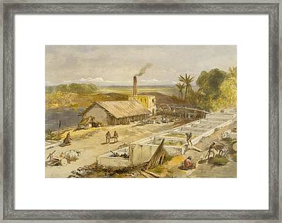 Indigo Factory - Bengal, From India Framed Print by William 'Crimea' Simpson