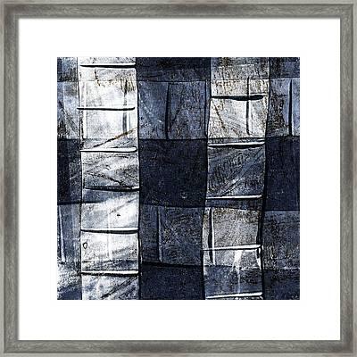 Indigo Squares 2 Of 5 Framed Print by Carol Leigh