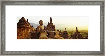 Indonesia, Java, Borobudur Temple Framed Print by Panoramic Images