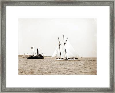 Indra, Indra Schooner, Yachts Framed Print by Litz Collection