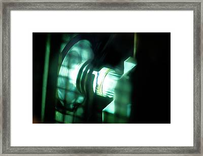 Inductively Coupled Plasma Lamp Framed Print by Crown Copyright/health & Safety Laboratory Science Photo Library