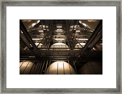 Industrial Interior Framed Print by Peter Maroti
