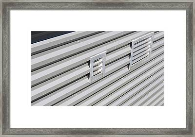 Industrial Photography - Silver Lining By Sharon Cummings Framed Print by Sharon Cummings
