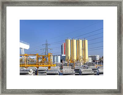 Industrial Scene With Concrete Framed Print by Fizzy Image