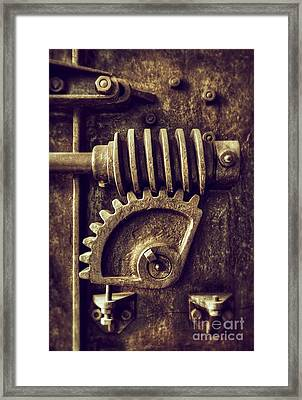 Industrial Sprockets Framed Print by Carlos Caetano
