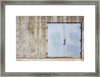 Industrial Unit Double Doors Framed Print by Nathan Griffith