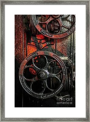 Industrial Wheels Framed Print by Carlos Caetano