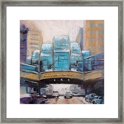 Indy Arts Garden Winter Framed Print by Donna Shortt