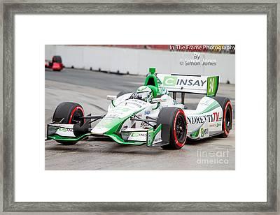 Indy Car  Framed Print by Simon Jones
