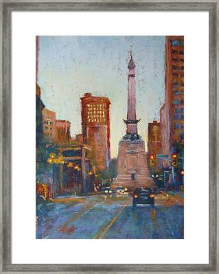 Indy Circle- Twilight Framed Print by Donna Shortt