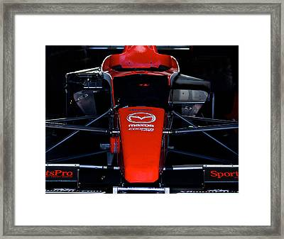 Indy Head On Framed Print by Dave Koontz