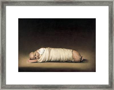 Infant Framed Print by Odd Nerdrum