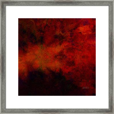 Inferno - Abstract - Art  Framed Print by Ann Powell