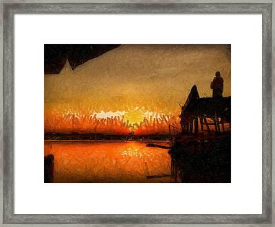 Infinite Oz Sun Set  Framed Print by Teara Na