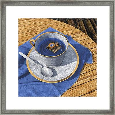 Infinitea Framed Print by Cynthia Decker