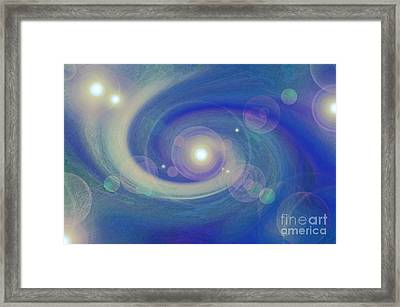 Infinity Blue Framed Print by First Star Art