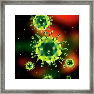Influenza Virus (h1n1) Framed Print by Science Artwork
