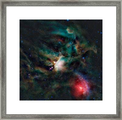Infrared Light View Of Rho Ophiuchi Molecular Cloud  Framed Print by Celestial Images