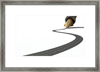Infrastructure Pen And Road Framed Print by Allan Swart