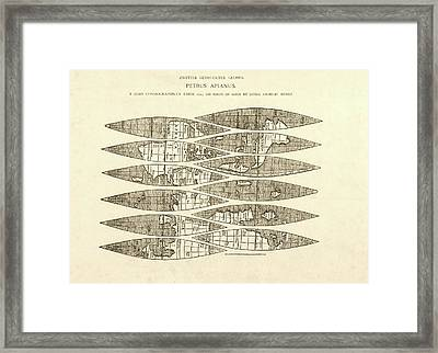 Ingolstadt Map Gores Framed Print by Library Of Congress, Geography And Map Division
