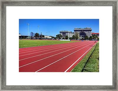 Ingram Field At Usna Framed Print by Olivier Le Queinec