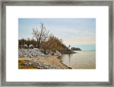 Inlet Lighthouse 4 Framed Print by Greg Jackson