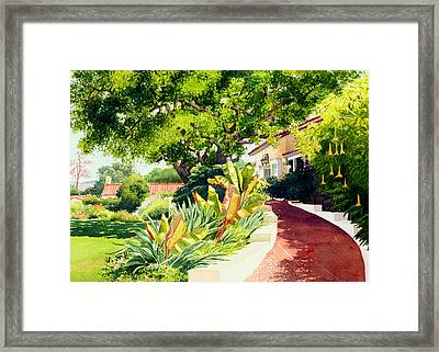 Inn At Rancho Santa Fe Framed Print by Mary Helmreich