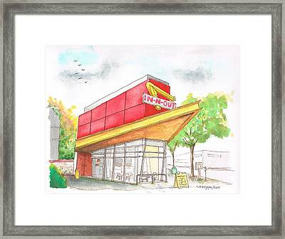 In'n Out Burger In San Francisco - Calfornia Framed Print by Carlos G Groppa