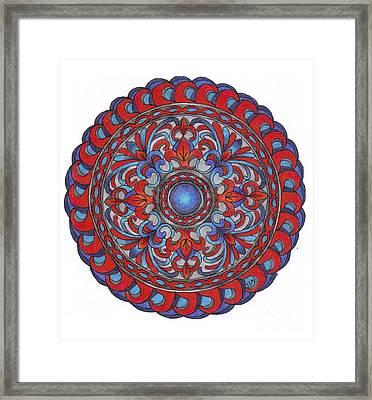 Inner Circle Framed Print by Sharon Andrews
