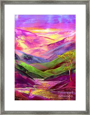Inner Flame, Meditation Framed Print by Jane Small