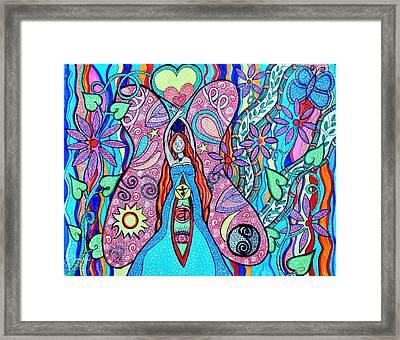 Inner Goddess Framed Print by Kim Larocque