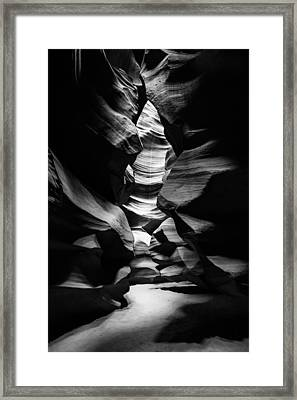Inner Sanctum Shadows - Antelope Canyon Framed Print by Gregory Ballos