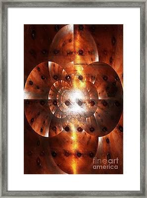Inner Strength - Abstract Art Framed Print by Carol Groenen