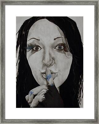 Inner Struggle Framed Print by Corina Bishop