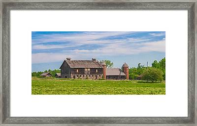 Innisfree Farm Framed Print by Guy Whiteley