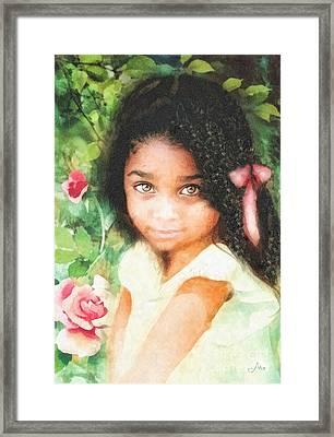 Innocence Framed Print by Mo T