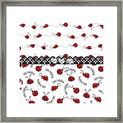 Innocent Ladybugs  Framed Print by Debra  Miller