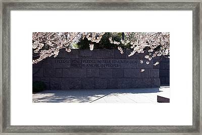 Inscription Of Fdrs New Deal Speech Framed Print by Panoramic Images