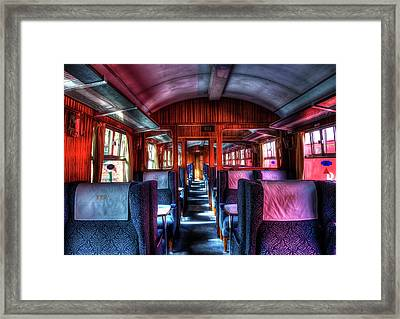 Inside An Old Train Framed Print by Svetlana Sewell