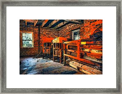 Inside Kerr Mill II - North Carolina Framed Print by Dan Carmichael