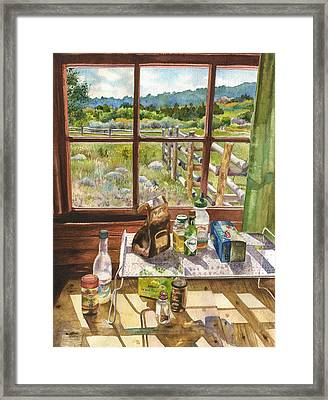Inside My Cabin Framed Print by Anne Gifford