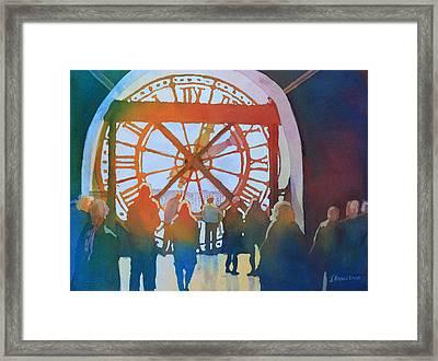 Inside Paris Time Framed Print by Jenny Armitage