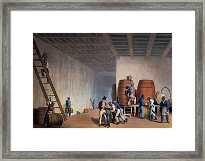 Inside The Distillery, From Ten Views Framed Print by William Clark
